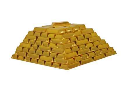 A Large Pile of Gold Bullion Bars.