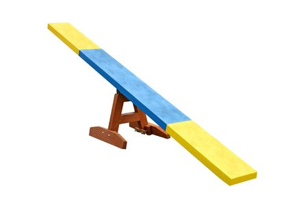 A Wooden Seesaw Used for Dog Training. Banque d'images