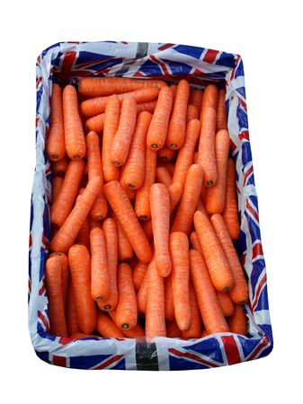 A Display Box of British Carrots Vegetables. Stock Photo - 7212762