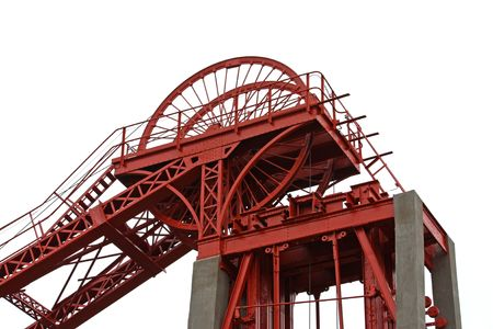refurbished: The Top of a Refurbished Colliery Headstocks. Stock Photo