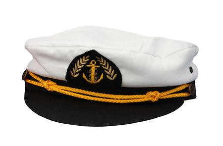 A Gold Decorated Nautical Captains Sailing Cap