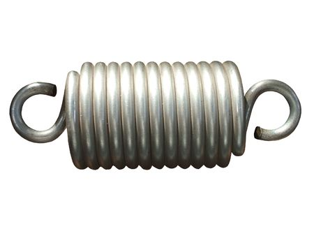 sprung: A Close Coiled Strong Metal Chunky Spring.