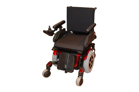 An Electric Wheelchair for a Disabled Person. Banque d'images