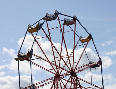A Traditional Fun Fair Ferris Big Wheel.