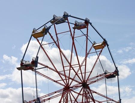 A Traditional Fun Fair Ferris Big Wheel.