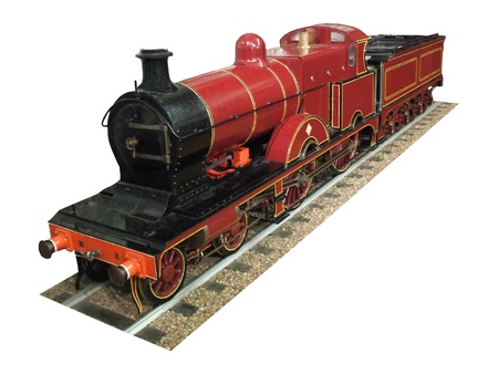 A Model of a Red Steam Engine. Stock Photo - 8456610