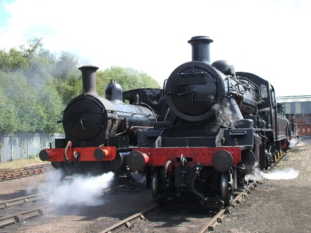 A Pair of Two British Vintage Steam Engines. photo