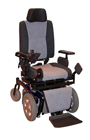 scooters: A Large Modern Electric Motorised Disability Wheelchair.