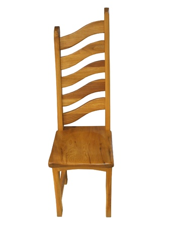 A Curved Back Unusual Shaped Wooden Chair. Stock Photo - 8957946