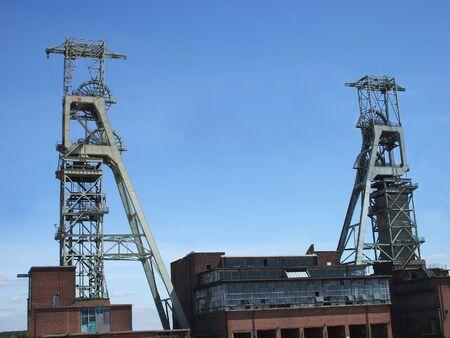 Die Puppen von einer alten Colliery.