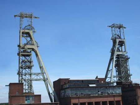 The Headstocks of an Old Colliery.