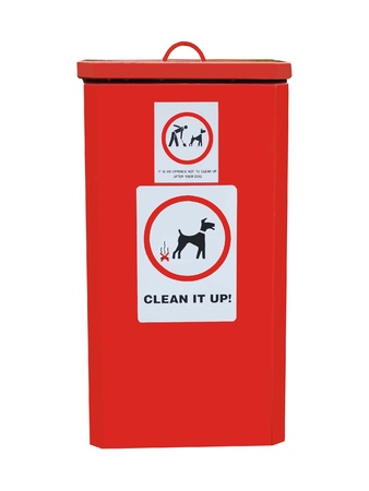 excreta: A Refuse Bin to be used for Dog Waste.