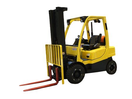 An Industrial Motorised Yellow Fork Lift Truck. Stock Photo - 9355396