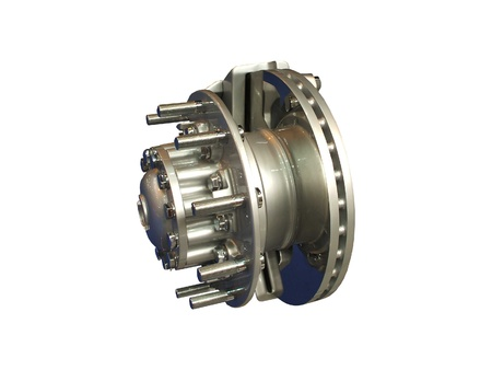 The Brake Assembly from a Large Lorry. Stock Photo - 9412030
