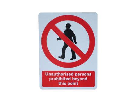 A Metal Roadside Warning Sign for Pedestrians.