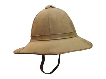 pith: A Typical Traditional Army Colonial Pith Helmet.