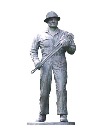A Statue of a Roughneck Oil Worker.