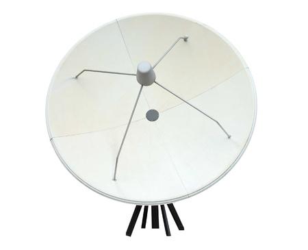 transmitting: A Large Satellite Transmitting and Receiving Dish. Stock Photo