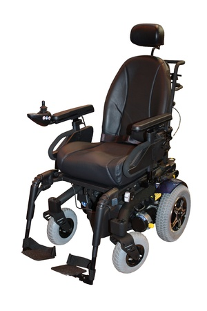 A Large Modern Electric Motorised Disability Wheelchair.
