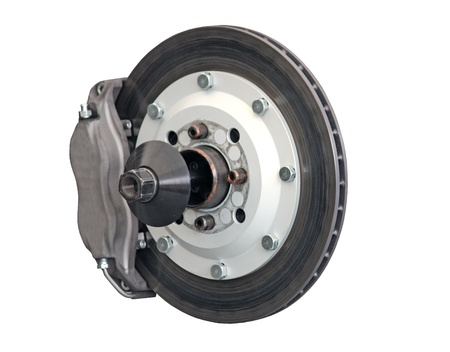 brakes: The Brake Disc Assembly of a Racing Car.