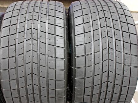 A Pair of High Quality Racing Car Tyres. Stock Photo - 10367901