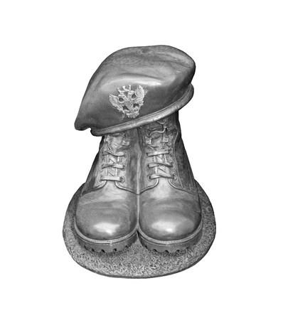 infantry: A Solid Metal Infantry Soldier Graveside Memorial.