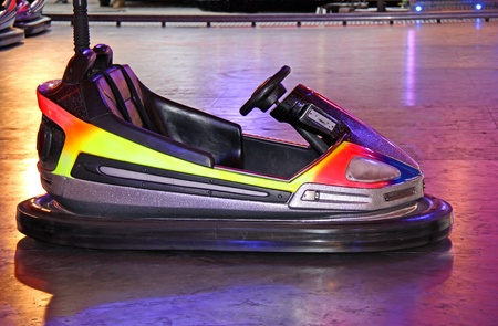 A Single Dodgem Car on a Fun Fair Ride.