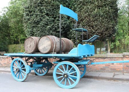 A Vintage Horse Drawn Brewery Delivery Cart. Stock Photo - 12952728