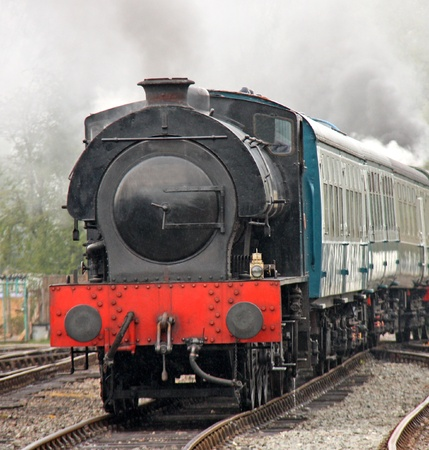 An Old Fashioned Steam Engine and Train. Stock Photo - 13981575