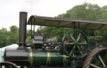 traction engine: A Powerful Vintage Steam Powered Traction Engine.
