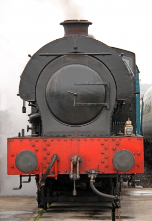 The Front of a Vintage Steam Train Engine. Stock Photo - 15017331