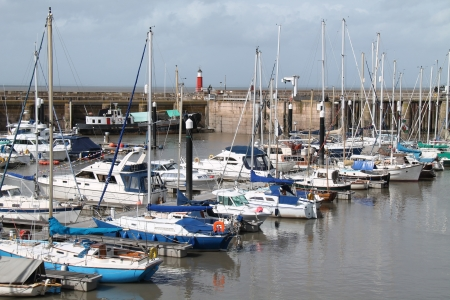 dinghies: A Collection of Boats Moored in a Coastal Harbour
