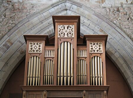 The Pipes of a Traditional Church Music Organ