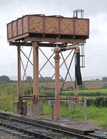refilling: A Vintage Water Tower for Refilling Steam Trains  Stock Photo