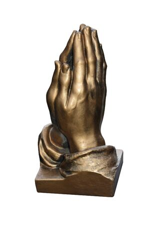 A Bronze Casting of a Pair of Praying Hands  Stock Photo - 16552046