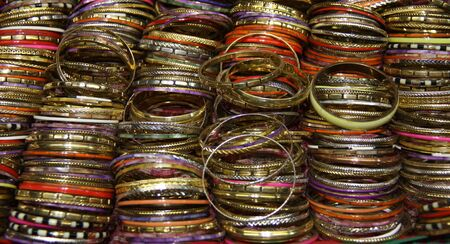 A Background Image of Colourful Wrist Bangles. Stock Photo - 17375728