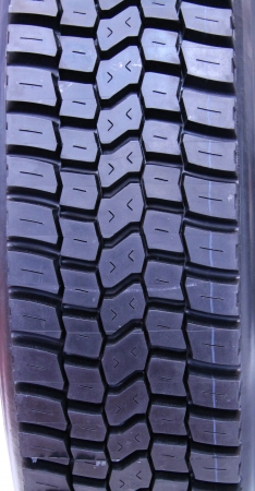 tyre tread: The Tread on a Heavy Duty Vehicle Wheel Tyre