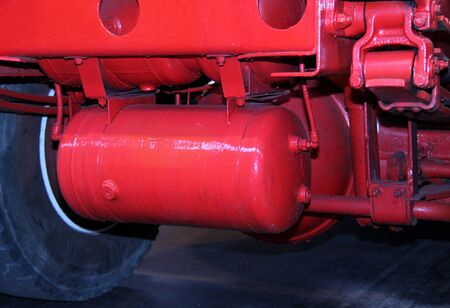 The Air Brake Cylinder of a Large Lorry Truck  Stock Photo - 21138974