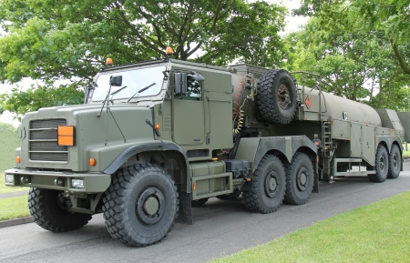 A Heavy Duty Military Army Fuel Tanker