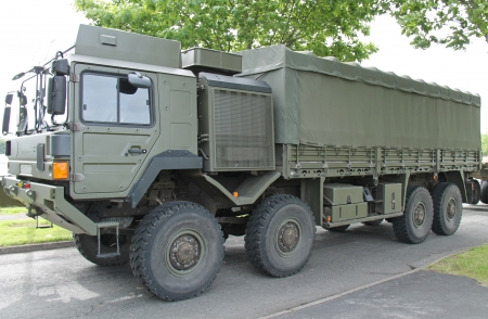 A Large Heavy Duty Military Transport Lorry Truck  photo