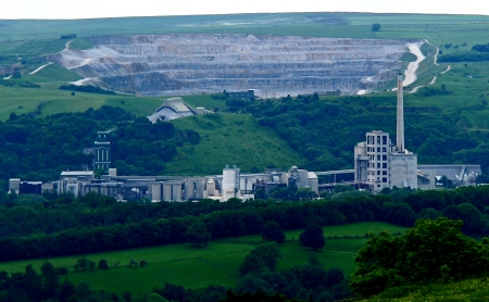 A Cement Works Factory and Associated Quarry