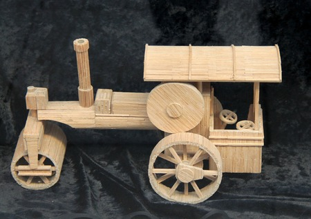 traction: A Wooden Model of a Vintage Traction Engine