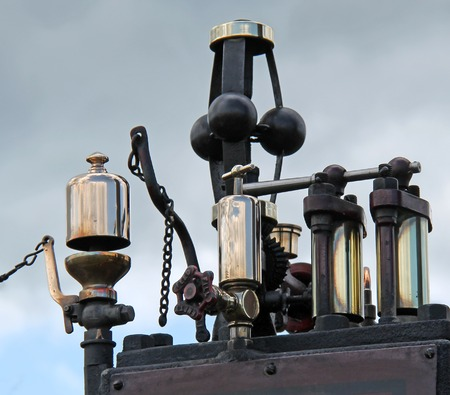 traction engine: The Controls and Whistle of a Vintage Traction Engine.