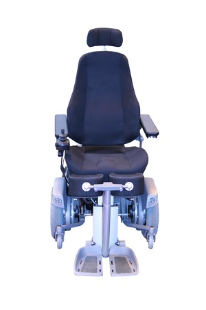 An Electric Wheelchair for use by a Disabled Person. photo