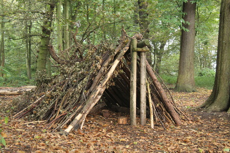 bivouac: A Forest Shelter Made From All Natural Materials.