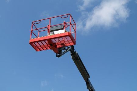 elevator operator: A High Lift Cherry Picker Hydraulic Vehicle.