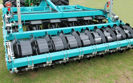 harrow: A Modern Agricultural Disc Harrow Farming Trailer.