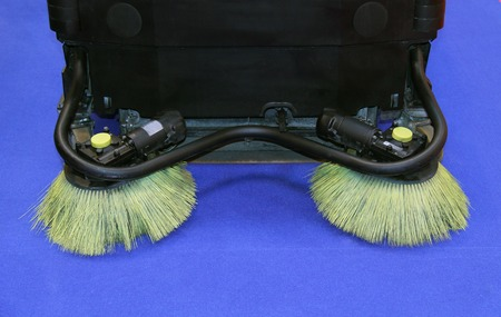 sweeper: The Brushes of a Motorised Road Sweeper Vehicle.