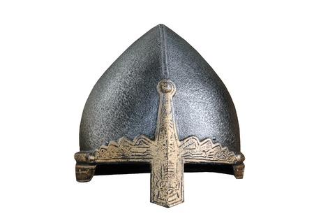 medieval: A Vintage Medieval Metal Armour Fighting Helmet.