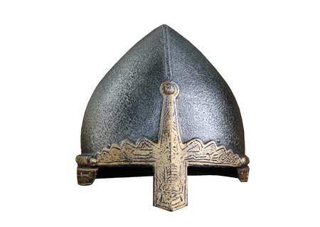 medievales: Un Casco Fighting Vintage medieval metal Armour.